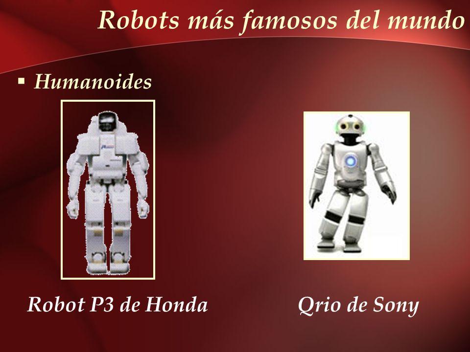 Robots más famosos del mundo