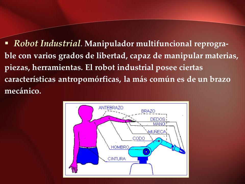 Robot Industrial. Manipulador multifuncional reprogra-