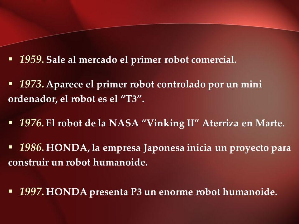 1959. Sale al mercado el primer robot comercial.