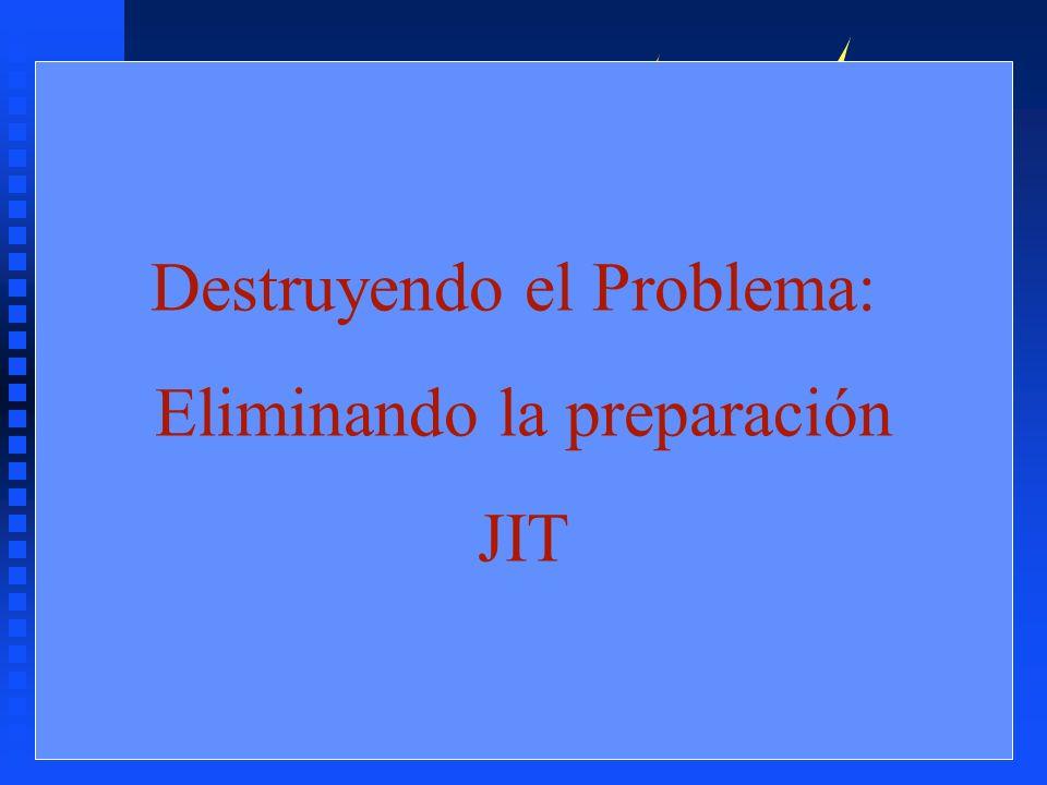 Destruyendo el Problema: Eliminando la preparación JIT