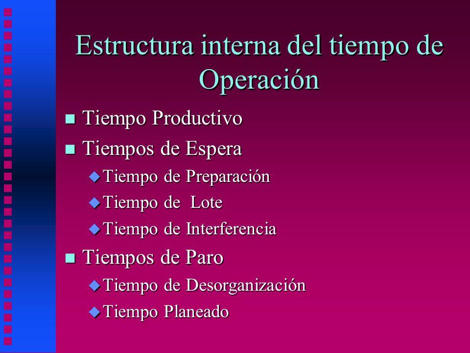 Estructura interna del tiempo de Operación