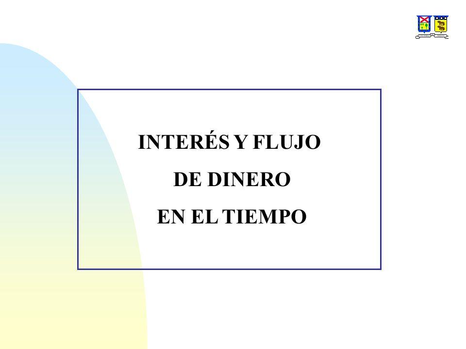 INTERÉS Y FLUJO DE DINERO EN EL TIEMPO