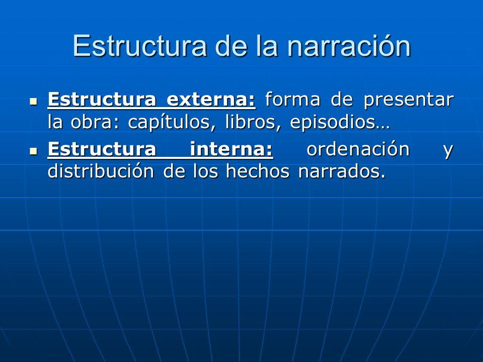 Estructura de la narración