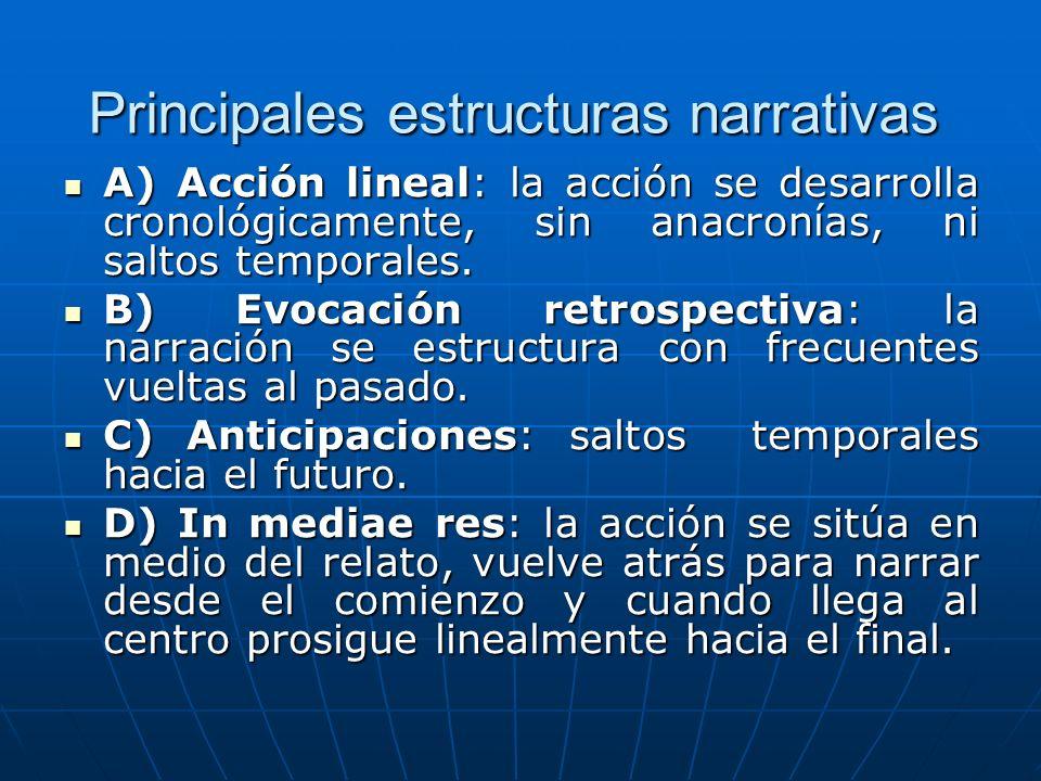 Principales estructuras narrativas