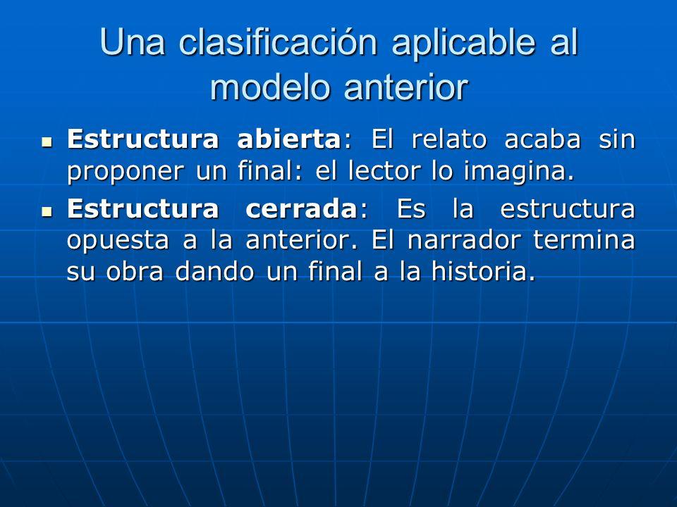 Una clasificación aplicable al modelo anterior