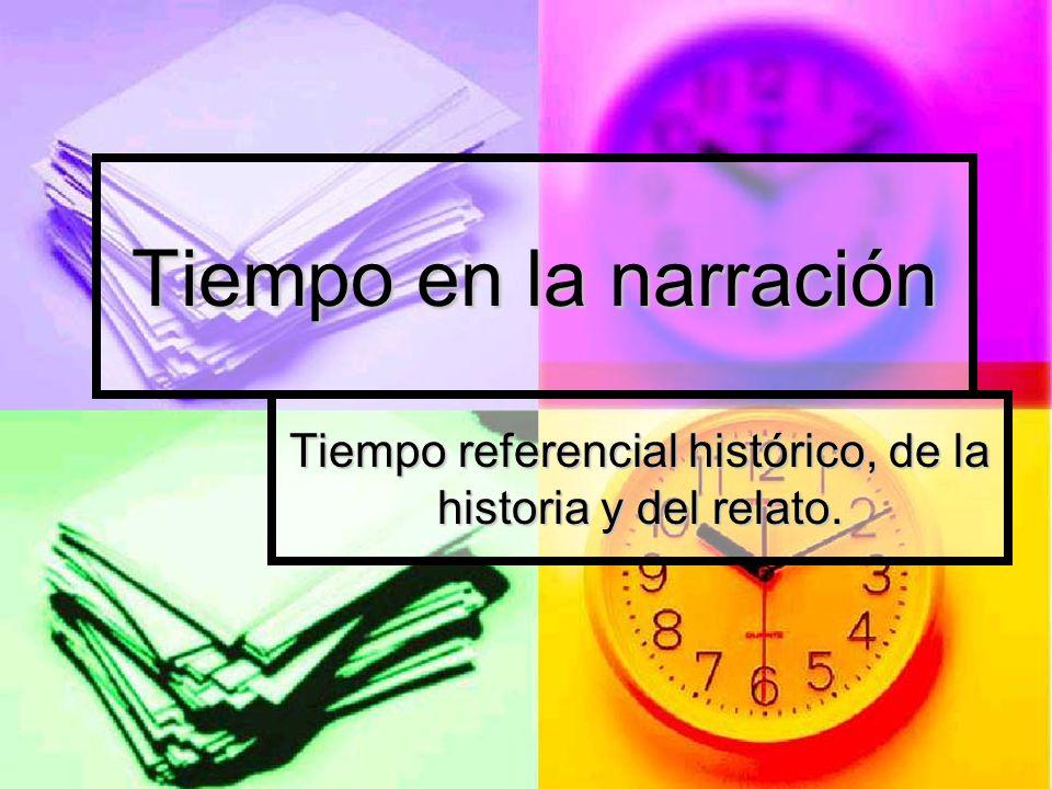 Tiempo referencial histórico, de la historia y del relato.