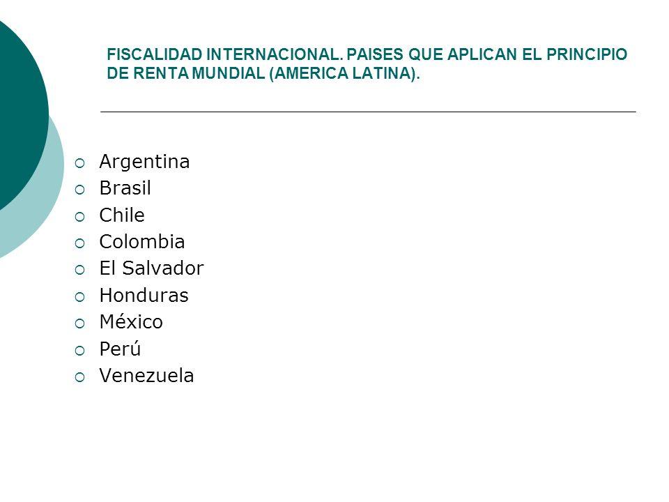 Argentina Brasil Chile Colombia El Salvador Honduras México Perú