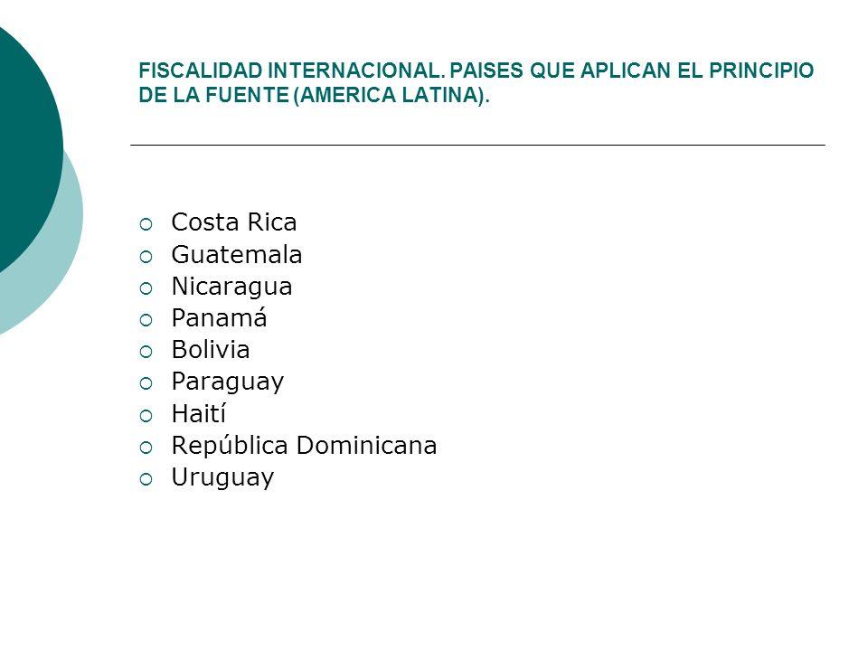 Costa Rica Guatemala Nicaragua Panamá Bolivia Paraguay Haití