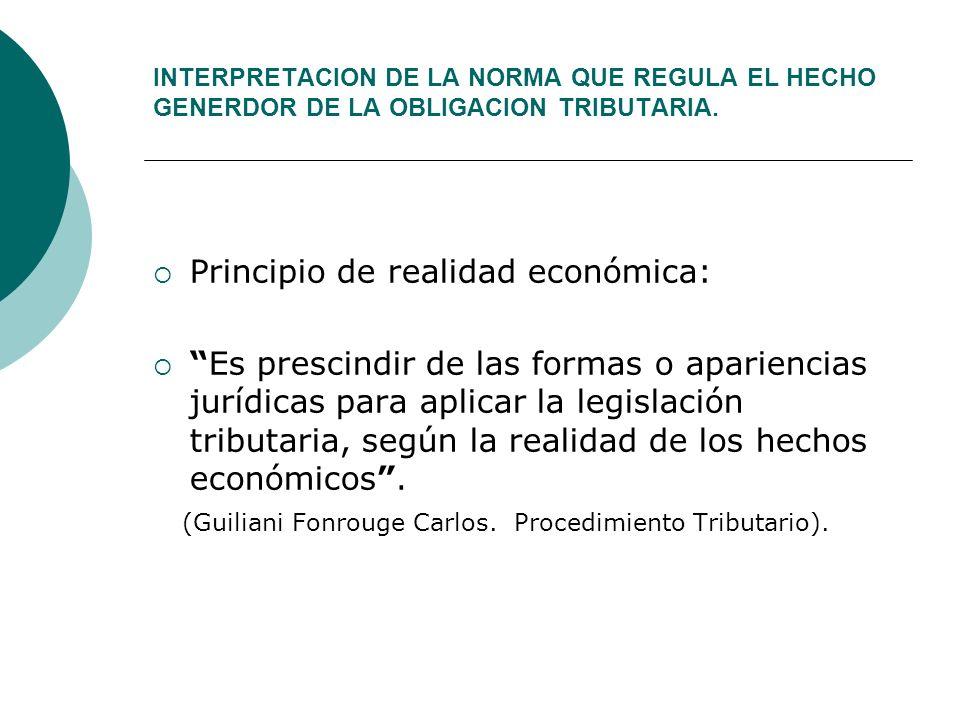 Principio de realidad económica: