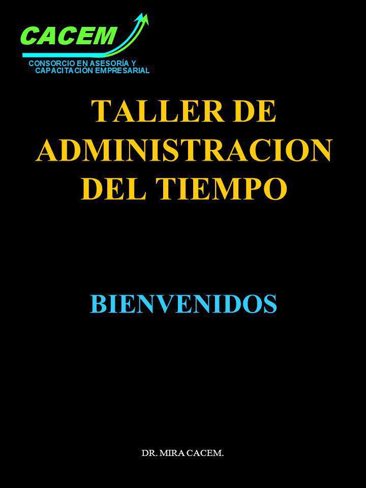 TALLER DE ADMINISTRACION DEL TIEMPO