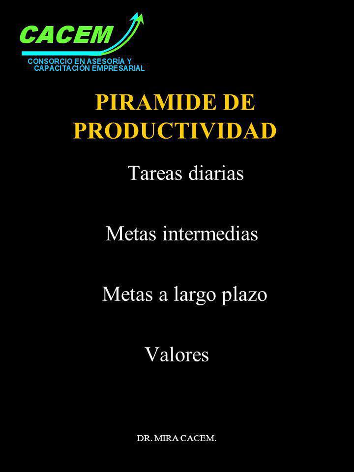 PIRAMIDE DE PRODUCTIVIDAD