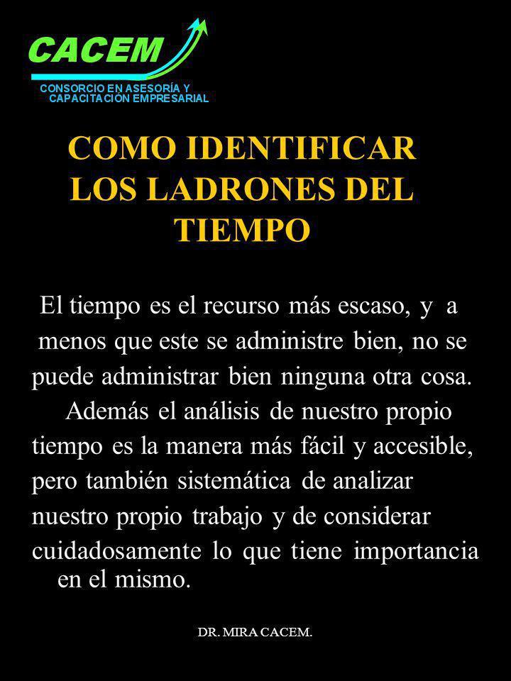 COMO IDENTIFICAR LOS LADRONES DEL TIEMPO