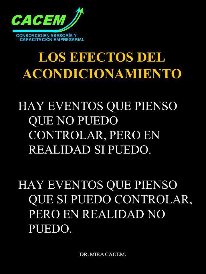 LOS EFECTOS DEL ACONDICIONAMIENTO