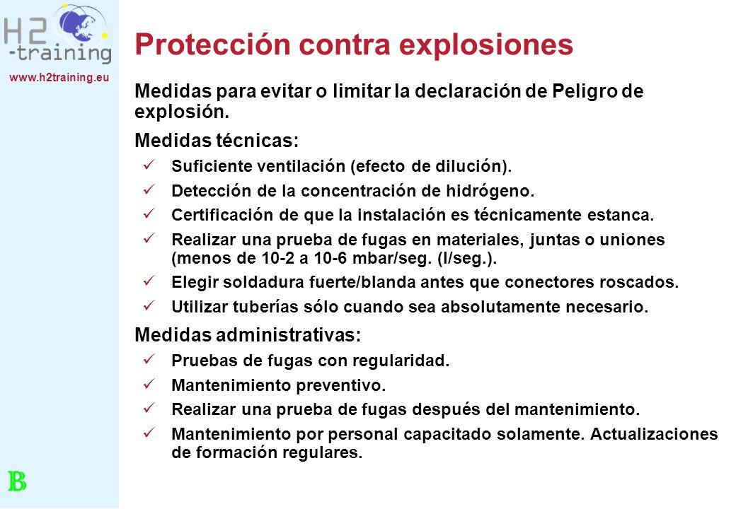 Protección contra explosiones
