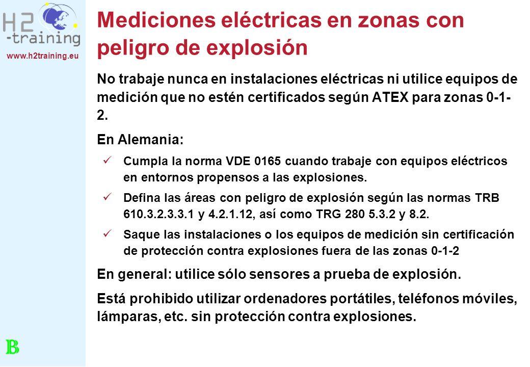 Mediciones eléctricas en zonas con peligro de explosión