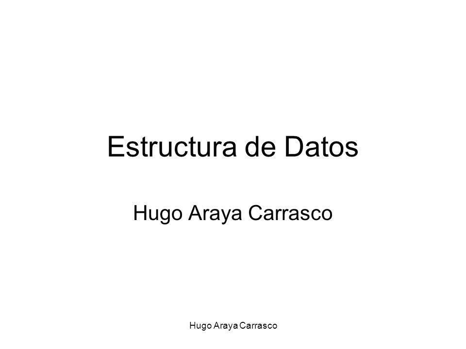 Estructura de Datos Hugo Araya Carrasco Hugo Araya Carrasco