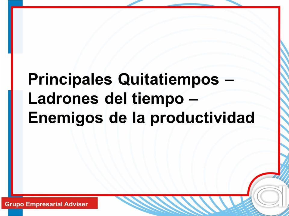 Principales Quitatiempos –