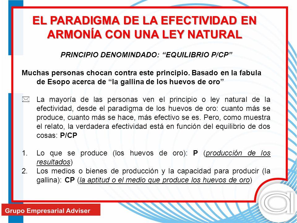 EL PARADIGMA DE LA EFECTIVIDAD EN ARMONÍA CON UNA LEY NATURAL