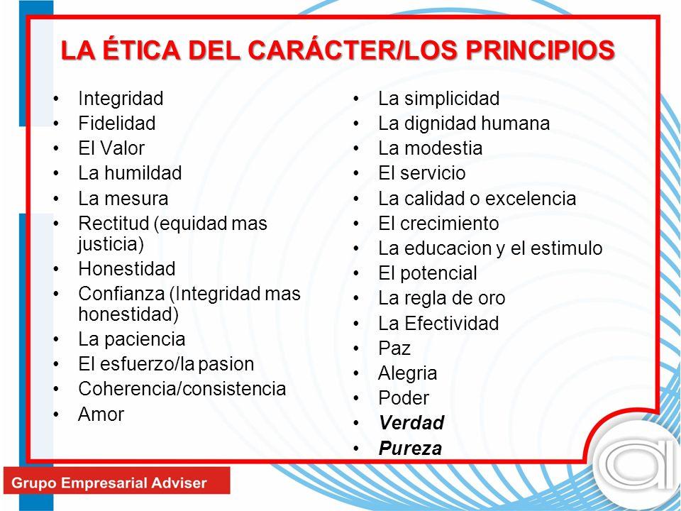 LA ÉTICA DEL CARÁCTER/LOS PRINCIPIOS