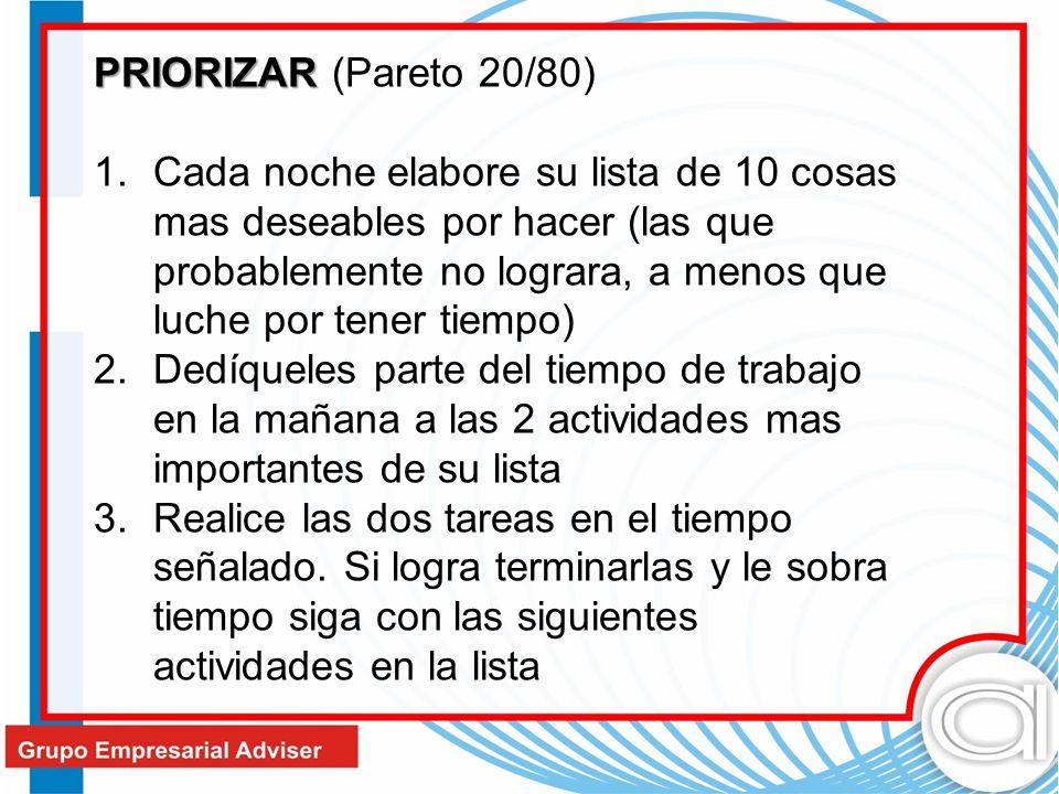 PRIORIZAR (Pareto 20/80)