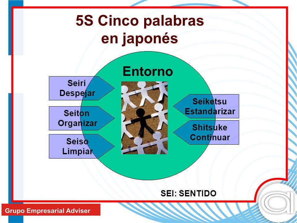 5S Cinco palabras en japonés