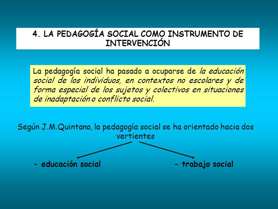 4. LA PEDAGOGÍA SOCIAL COMO INSTRUMENTO DE INTERVENCIÓN