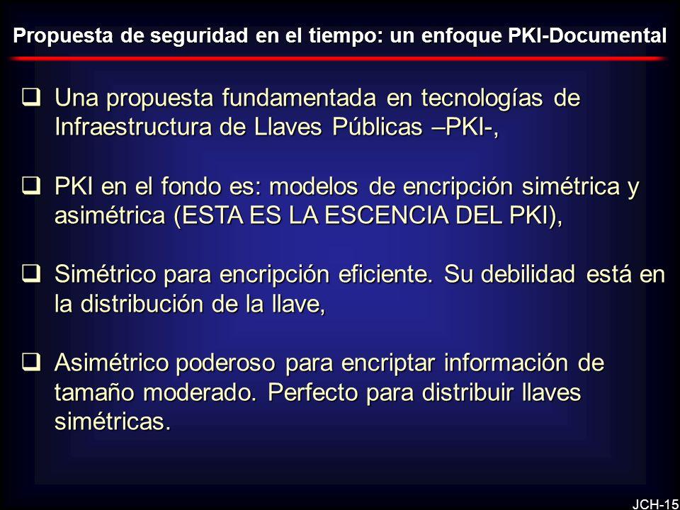 Propuesta de seguridad en el tiempo: un enfoque PKI-Documental