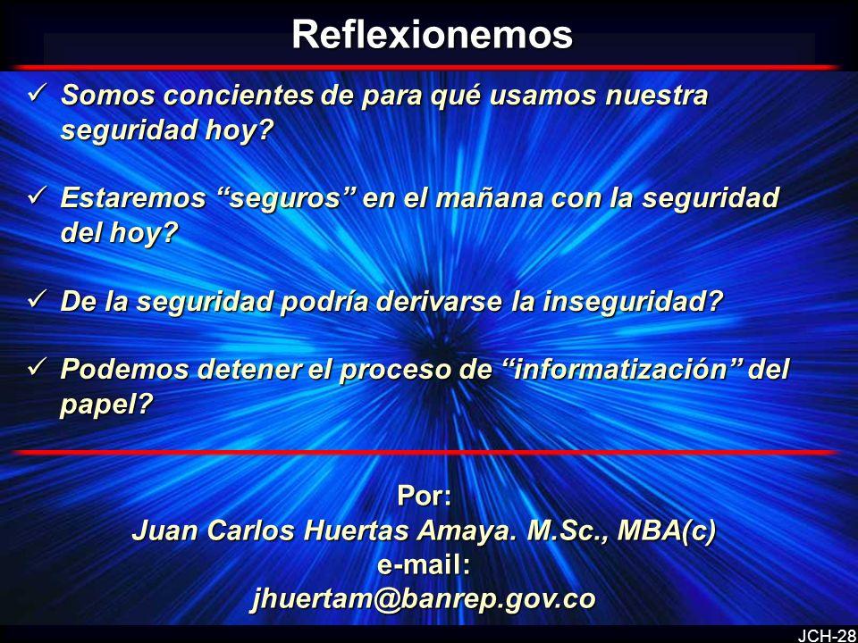 Juan Carlos Huertas Amaya. M.Sc., MBA(c)