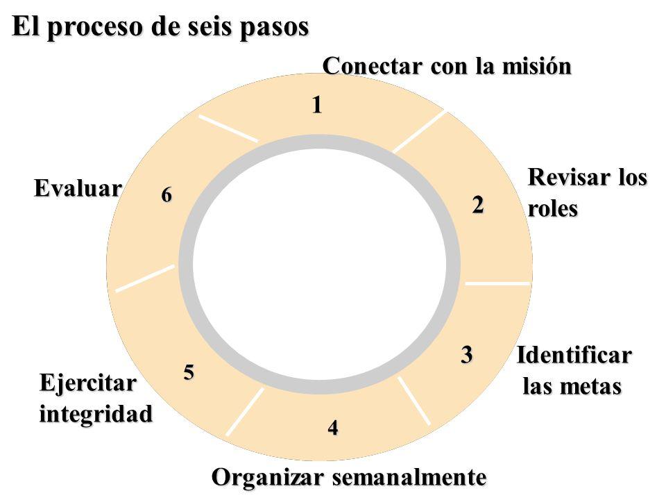 El proceso de seis pasos