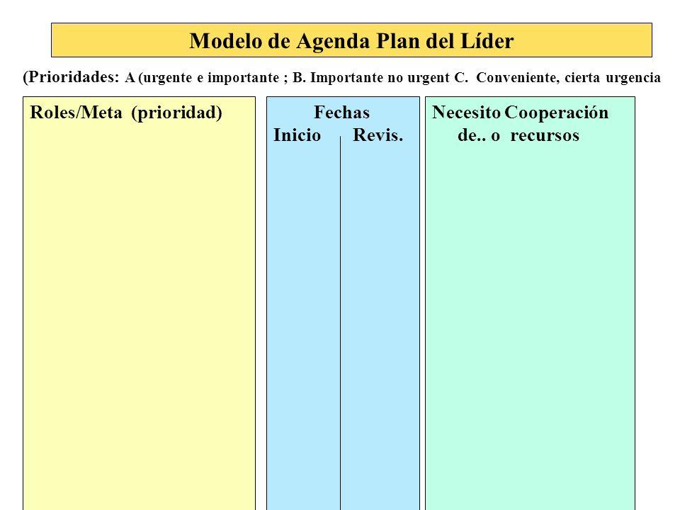 Modelo de Agenda Plan del Líder