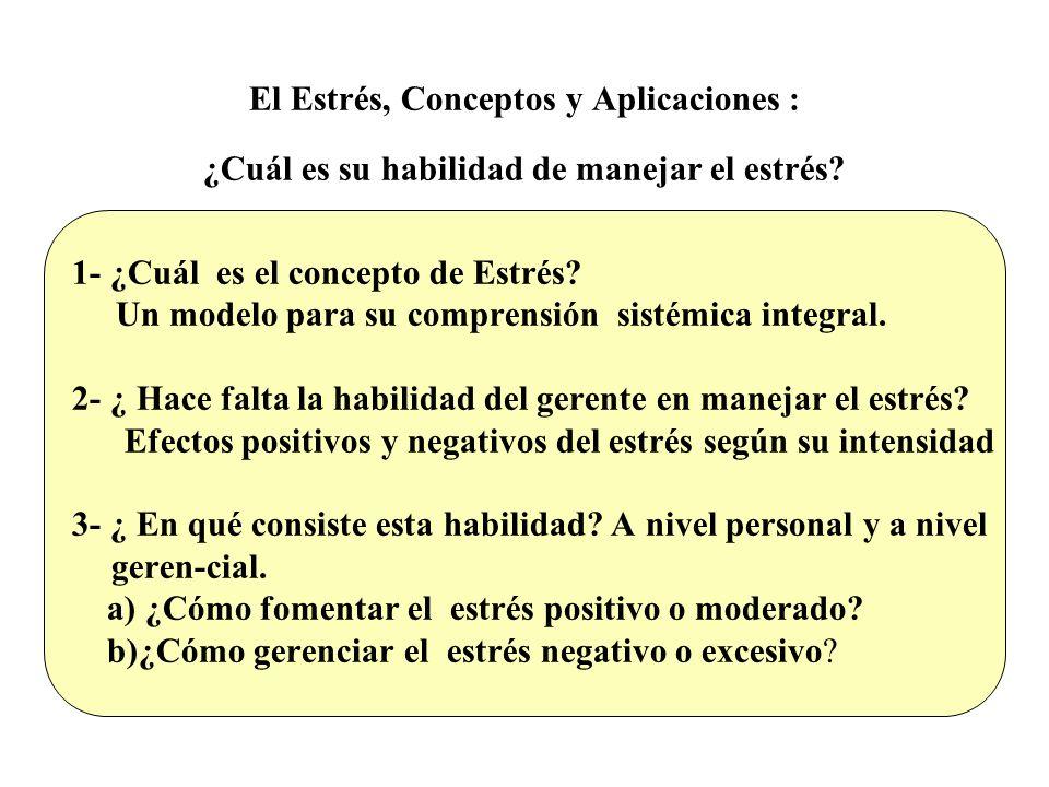1- ¿Cuál es el concepto de Estrés