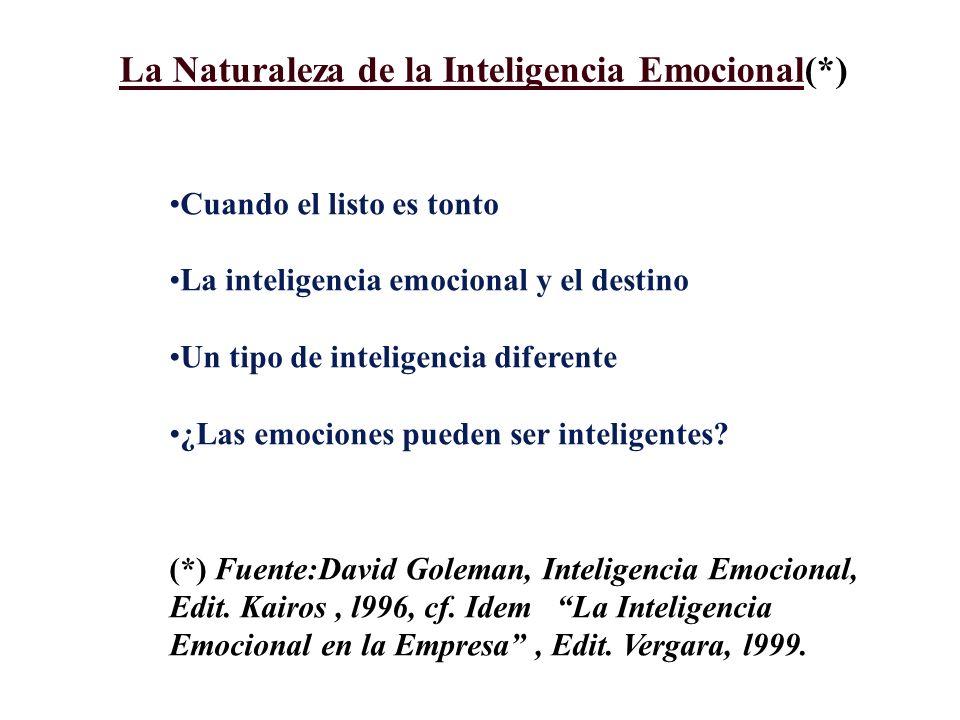 La Naturaleza de la Inteligencia Emocional(*)