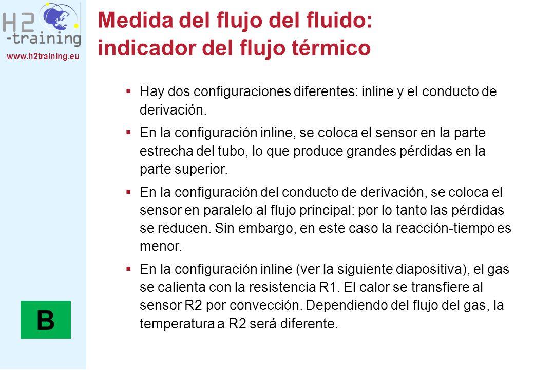 Medida del flujo del fluido: indicador del flujo térmico