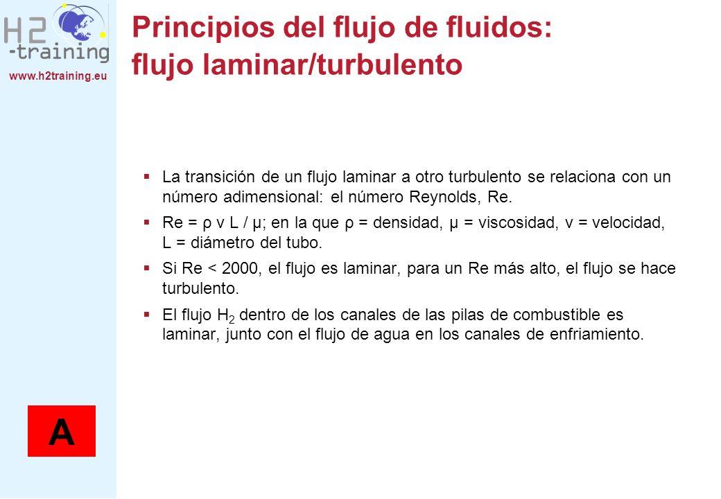 Principios del flujo de fluidos: flujo laminar/turbulento