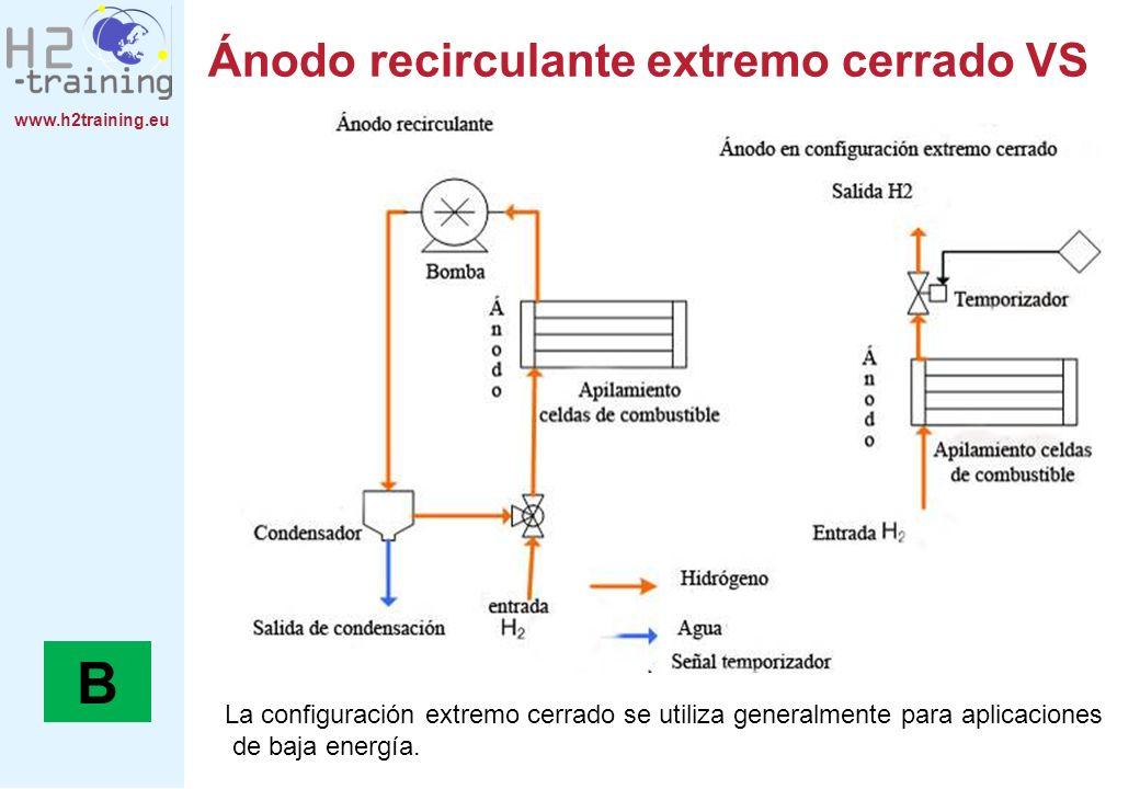 Ánodo recirculante extremo cerrado VS
