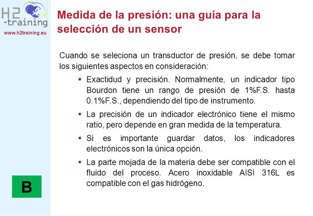 Medida de la presión: una guía para la selección de un sensor