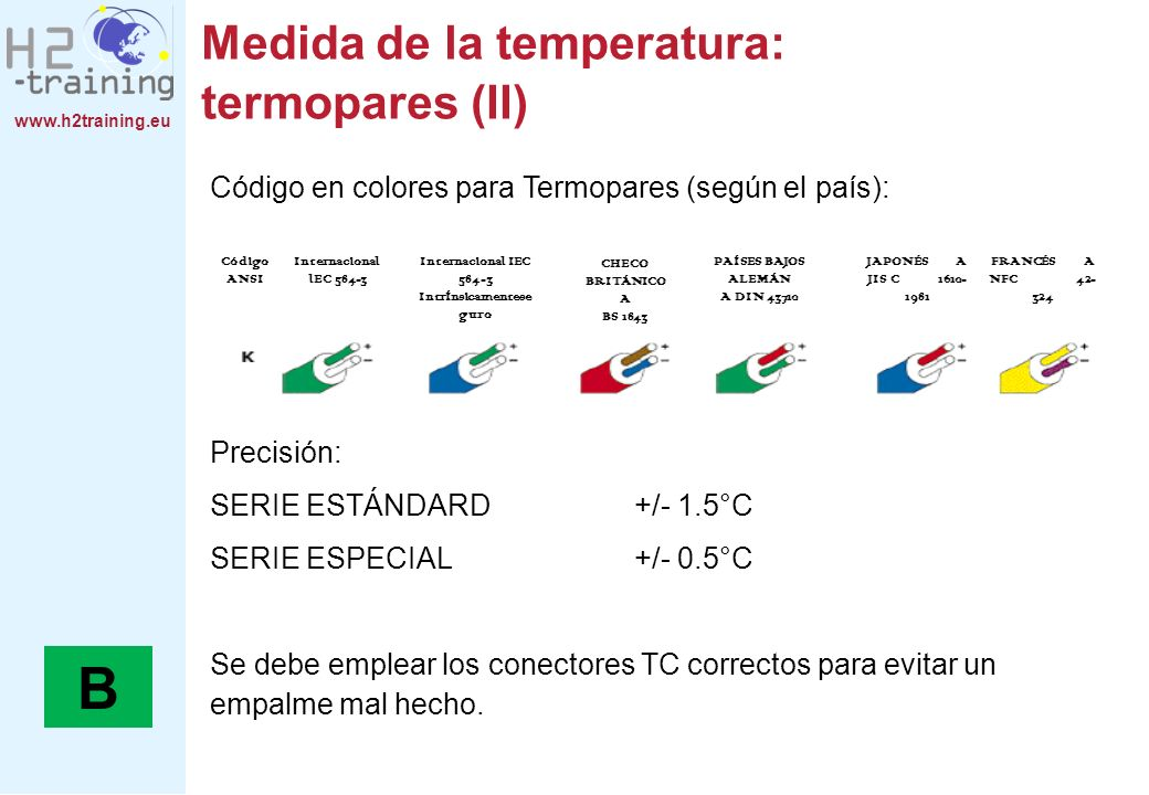 Medida de la temperatura: termopares (II)