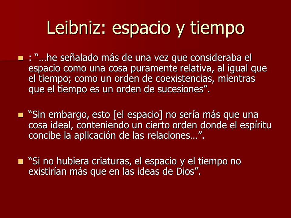 Leibniz: espacio y tiempo