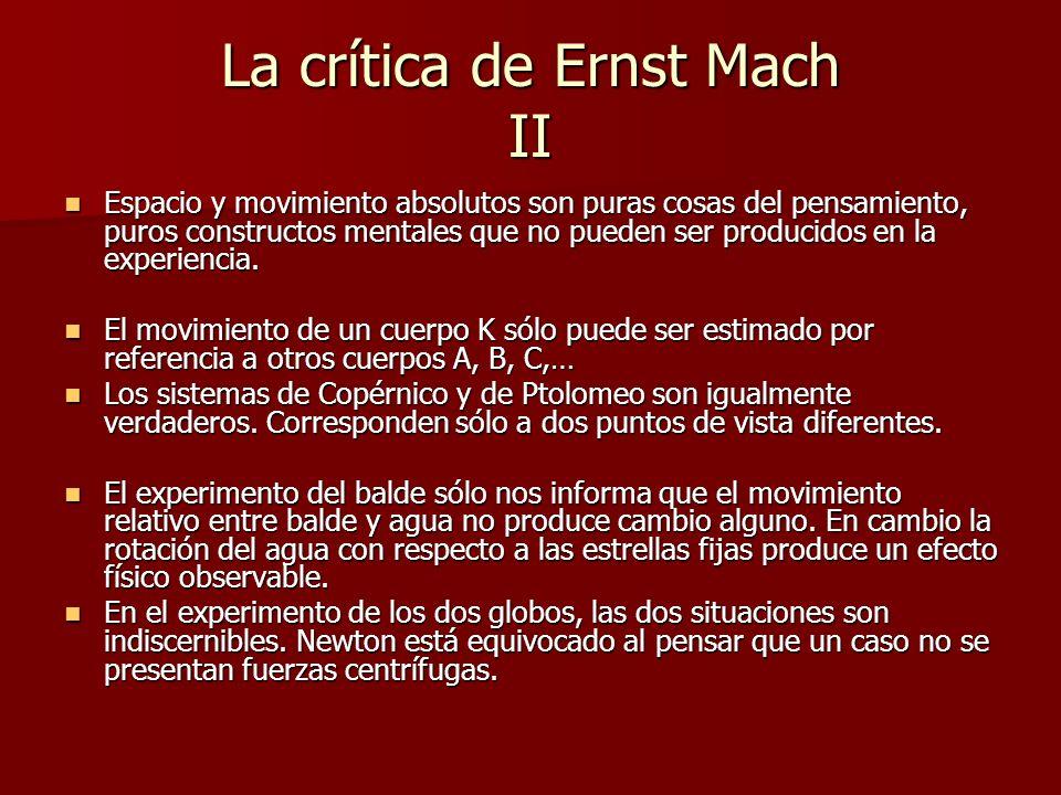 La crítica de Ernst Mach II