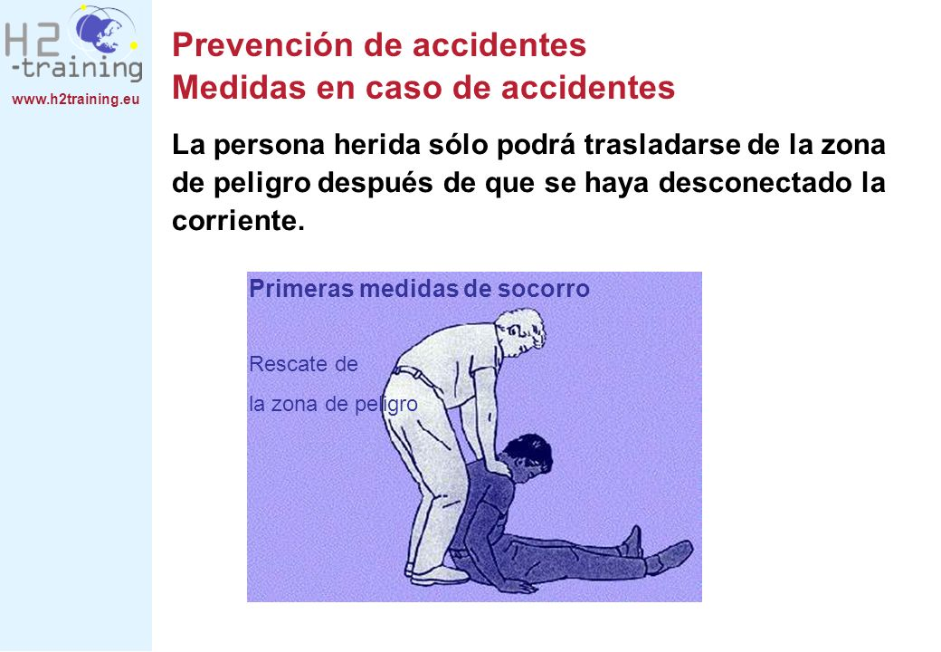 Prevención de accidentes Medidas en caso de accidentes