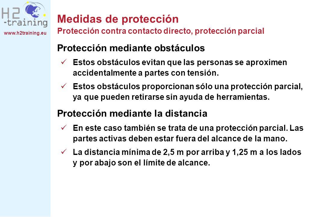 Medidas de protección Protección contra contacto directo, protección parcial