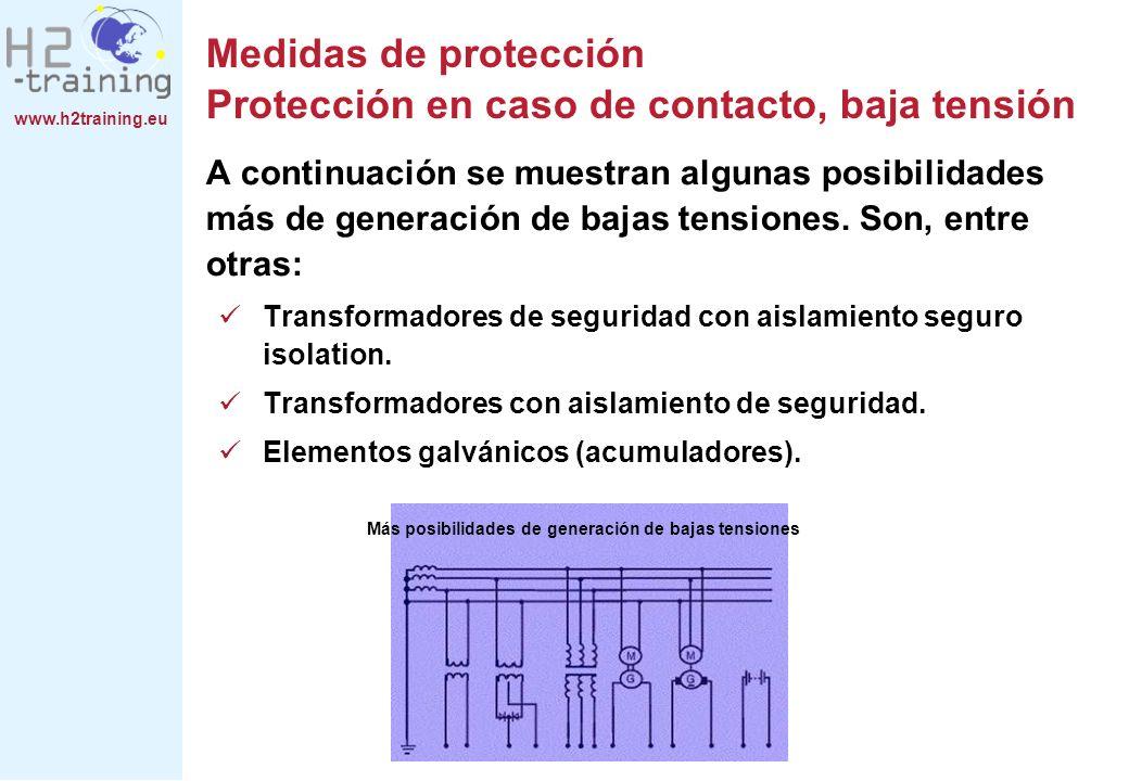 Medidas de protección Protección en caso de contacto, baja tensión