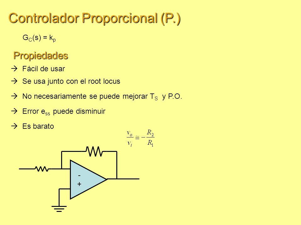 Controlador Proporcional (P.)