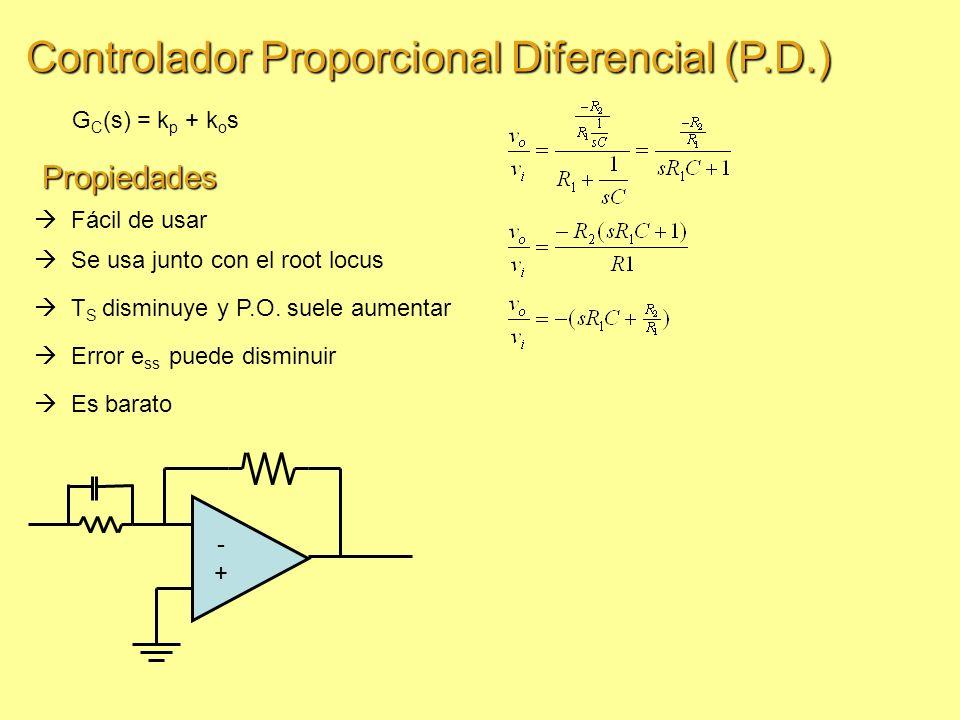 Controlador Proporcional Diferencial (P.D.)