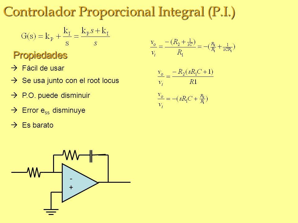 Controlador Proporcional Integral (P.I.)
