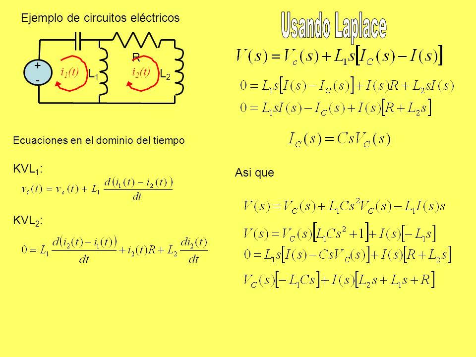 Ejemplo de circuitos eléctricos Usando Laplace