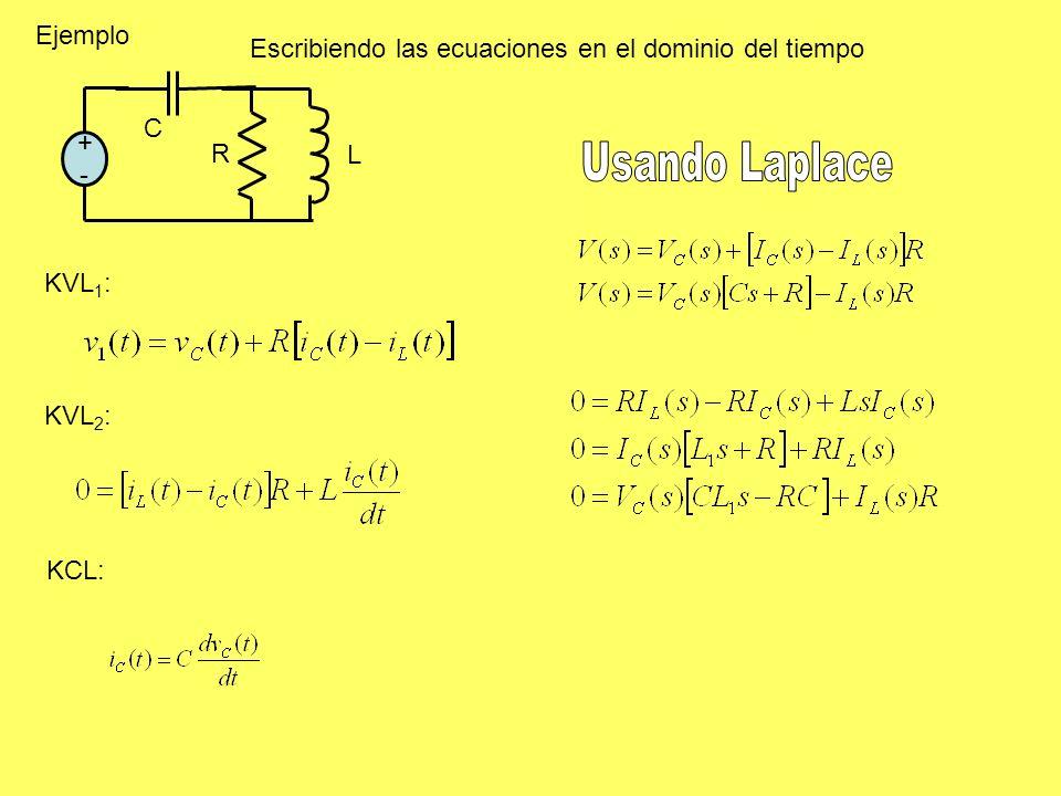 Usando Laplace Ejemplo