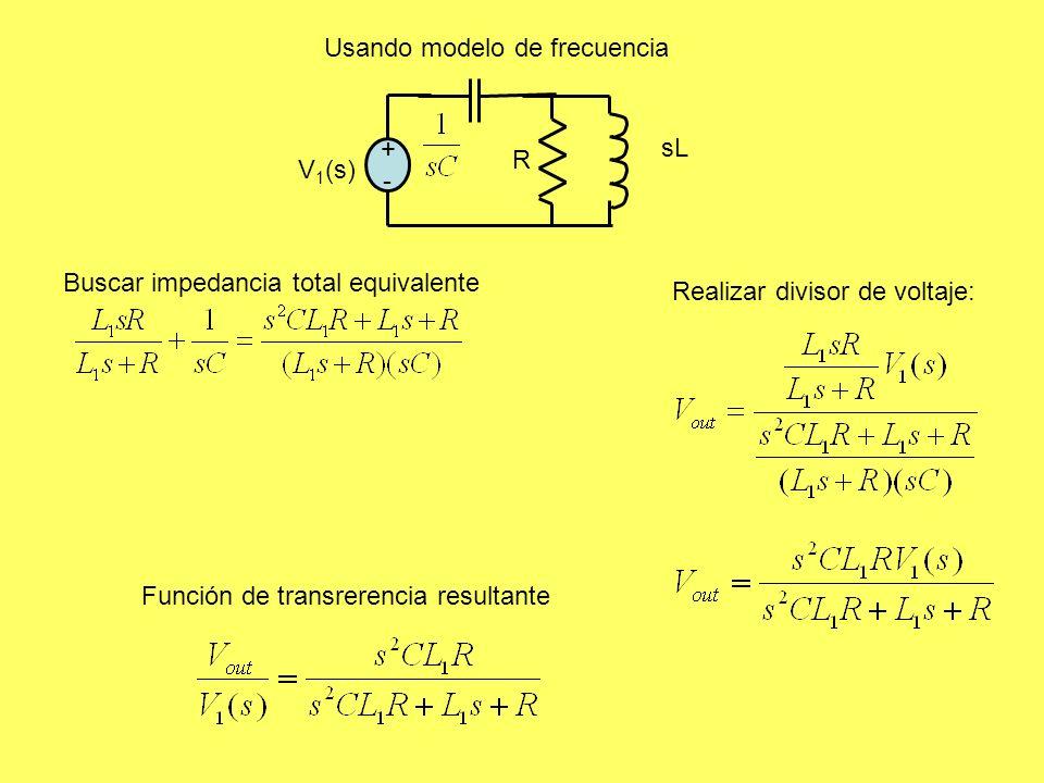 Usando modelo de frecuencia