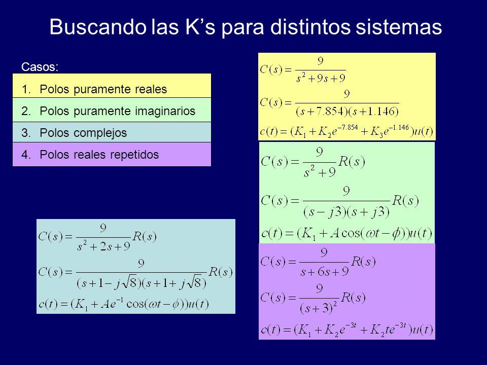 Buscando las K's para distintos sistemas