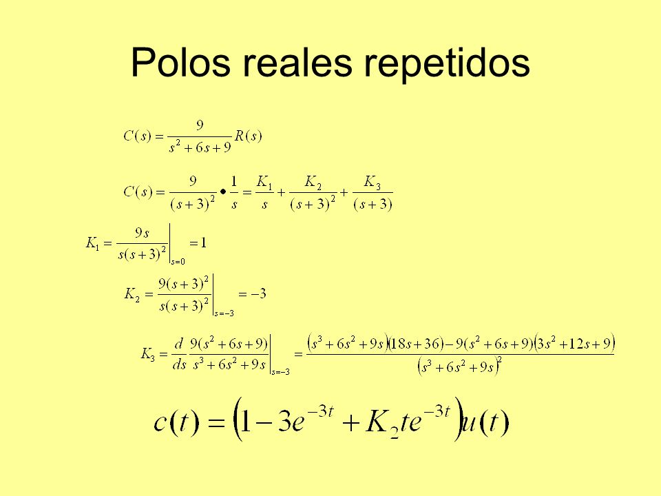 Polos reales repetidos